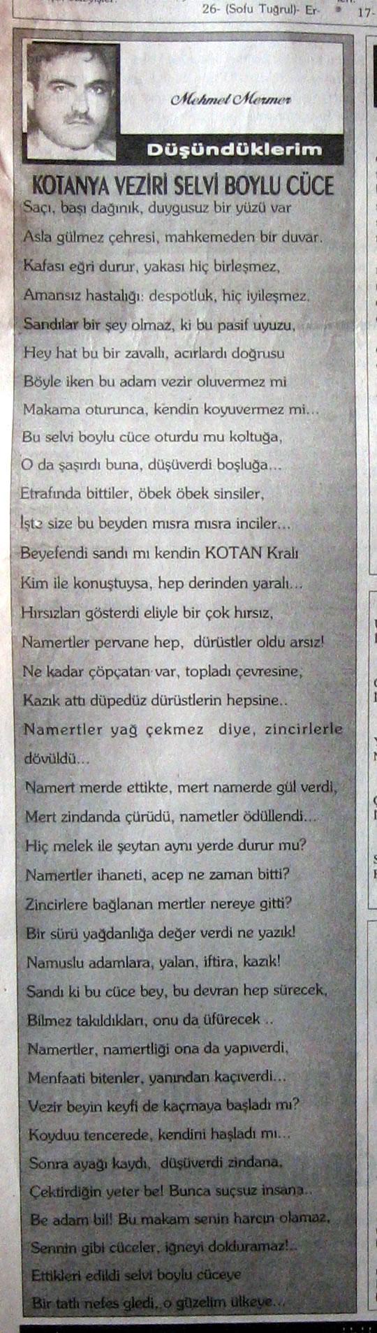 Kotanya Veziri Selvi Boylu Cüce